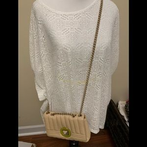 Kate spade wallet on chain beige small